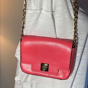Kate Spade Clasp Front, Chain Strap Hot Pink Bag